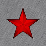 Red star with in steel background. EPS 8 Royalty Free Stock Photos