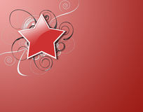 Red Star and Swirls Stock Images