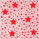 Red star vector background Stock Photos