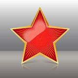 Red Star Vector Illustration Stock Photography