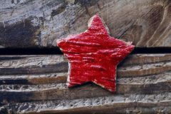 Red star on a vintage background Stock Image