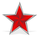 Red star on white Stock Photos