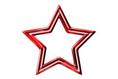 Red star. On the white background Royalty Free Stock Photos