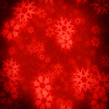 Red star xmas backgrond. Red star christmas background with abstract snow flakes vector illustration