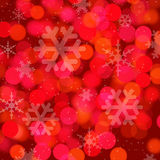 Red star xmas backgrond. Red star christmas background with abstract snow flakes stock illustration