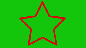 Red star zooming in green screen stock video footage