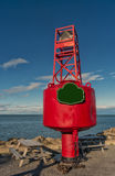 Red Starboard buoy Royalty Free Stock Image
