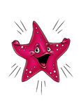 Red starfish smiles Royalty Free Stock Photos