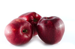 Red stark apples isolated on white background Stock Photo