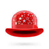Red starred bowler hat Royalty Free Stock Image