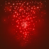 Red starry background. Red shining background with stars and blurry lights, illustration Royalty Free Stock Images