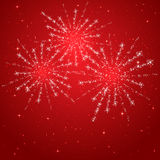 Red starry fireworks Royalty Free Stock Photography