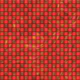 Red starry tiles. Metallic background tiles with a bit of sparkle, tiles seamless as a pattern Royalty Free Stock Photography