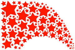 Red Stars. Graphic red stars, for joy Royalty Free Stock Image