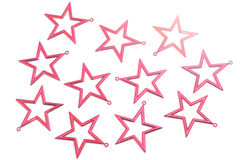 Red stars. Isolated on white background Stock Image