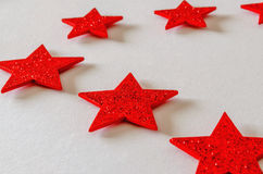 Red stars background Stock Photos