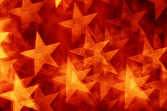 Red stars bokeh Royalty Free Stock Photography