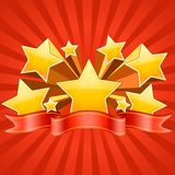 Red Stars Burst Background Royalty Free Stock Photos