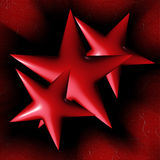 Red stars Stock Image
