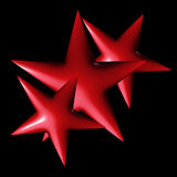 Red stars Royalty Free Stock Image