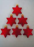 Red stars christmas tree. Red stars in shape of Christmas tree Stock Photo
