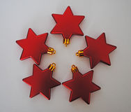 Red stars. In a circle Stock Image