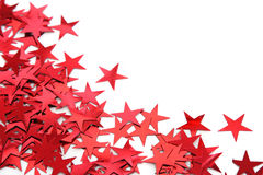 Red stars confetti Royalty Free Stock Image