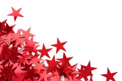 Red stars confetti Stock Photo