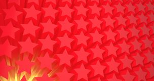 Red stars. 3D pattern background Stock Images