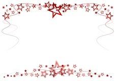 Red stars vector illustration