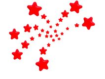 Red Stars Fireworks Pattern Royalty Free Stock Image