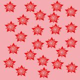 Red stars pink backgraund attern paper nature design decorative element vector illustration