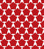 Red stars seamless pattern. Stock Image