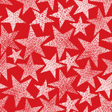 Red stars seamless pattern, vector background Royalty Free Stock Photos