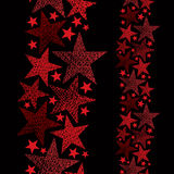 Red stars seamless pattern, vertical composition Stock Photography
