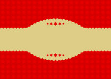 Red stars tone-on-tone on red background with copy space Stock Photos
