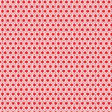 Red Stars Triangle Geometric Pattern Fabric Background Stock Photography