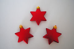 3 Red stars. Red stars on white background Royalty Free Stock Images
