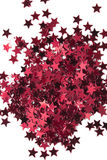 Red stars on white background Stock Photography