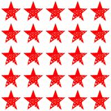Red stars on white background repetition cards backgrounds. Isolated repeat decoration pattern royalty free illustration