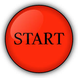 Red Start button Stock Image
