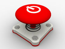 Red start button Stock Photography