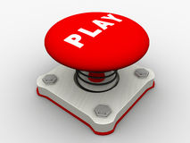 Red Start Button Royalty Free Stock Photo