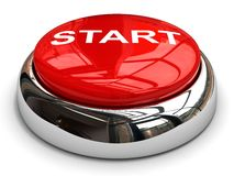 Red start button concept Royalty Free Stock Photography