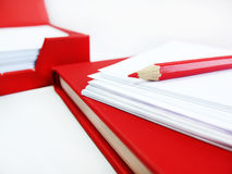 Red stationary Royalty Free Stock Image
