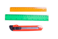 Red stationery knife Stock Photo