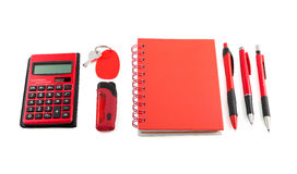 Red stationery style. Corporate identity design Stock Images