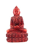Red statue of budha front Stock Photography