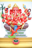 Red Statue Ganesh in temple. Royalty Free Stock Photos