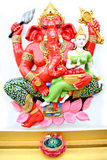 Red Statue Ganesh in temple. Stock Image